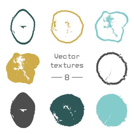 Splatters set poster design. Illustration