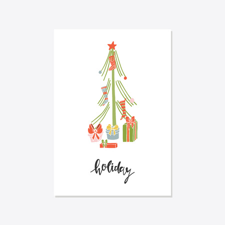 Greeting Card with christmas toys