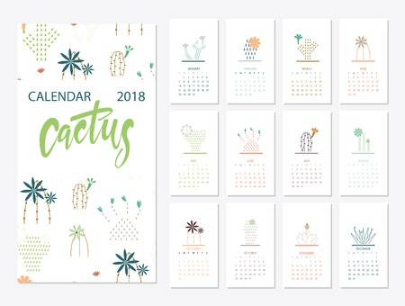 Calendar 2018 template Illustration
