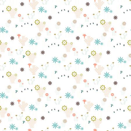 異なるサボテンと多肉植物のアイコンシンボルデザインベクトルイラストを持つシームレスなパターン  イラスト・ベクター素材