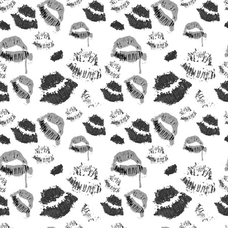 Seamless halloween pattern lipsticks icon symbol design vector illustration