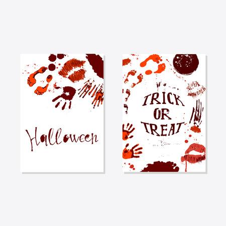 Vector set of Halloween poster
