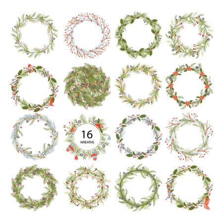 Cute hipster wreaths.