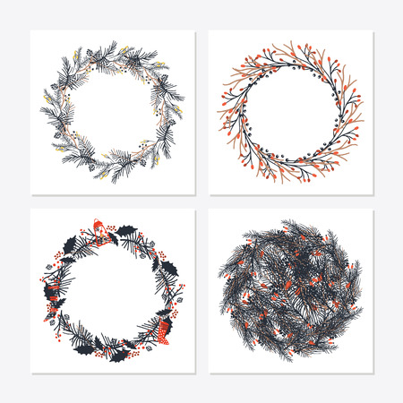 Cute hipster wreaths