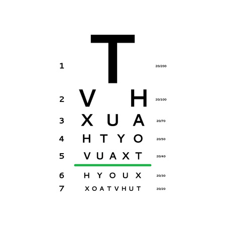 Eye test chart vector illustration Ilustracja
