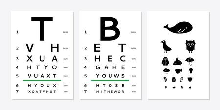 Eyes test chart
