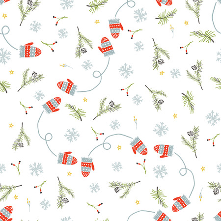 Christmas and Happy New Yea set of modern seamless backgrounds Banque d'images - 92710417