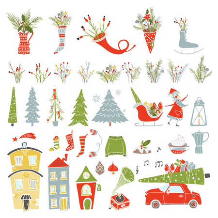 Merry Christmas Collection icon Banque d'images - 92710450