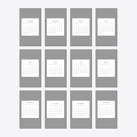 2018 calendar design print template with place for photo.