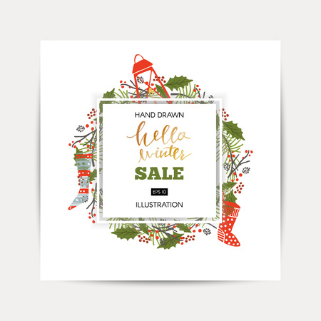 Winter shopping sale template
