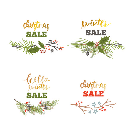Winter set shopping sale template