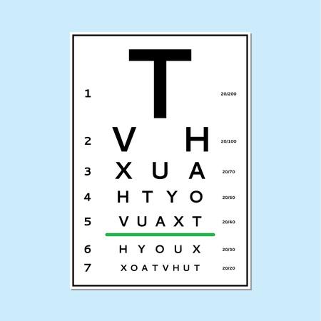 Carta de prueba de ojos Foto de archivo - 92777717