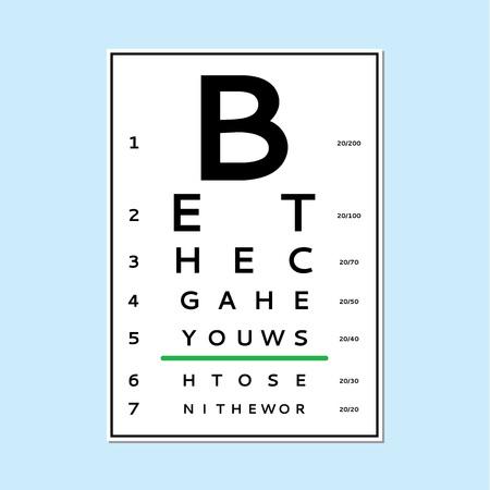 Diagramma di prova degli occhi Archivio Fotografico - 92777719