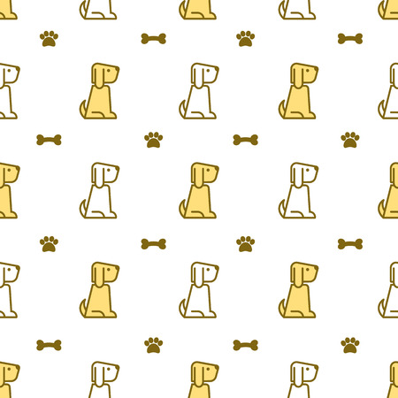 Seamless pattern with dogs, dog image, vector textile fabric print, wrapping paper, bedding pattern for kids