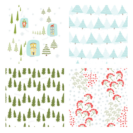 Christmas seamless pattern. They can be used to decorate your print designs.