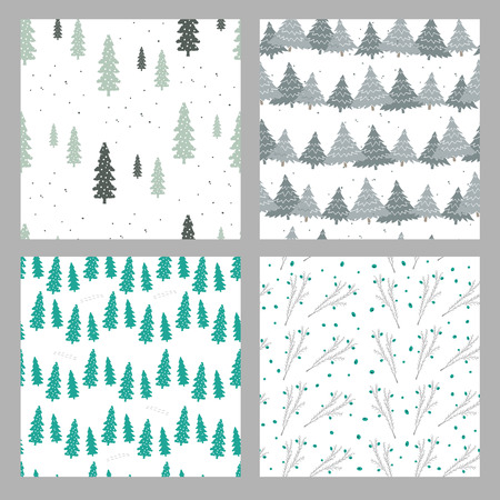 Christmas seamless pattern. They can be used to decorate your print designs: packing design, cards, wrapping paper textile: t-shirts, towels, cushions web designs: blogs, banners, backgrounds. Ilustração