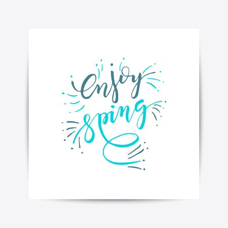 Hand sketched Happy Easter text vector illustration. Ilustracja