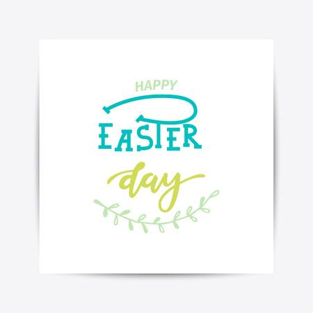 Hand sketched Happy Easter text pattern design Illustration