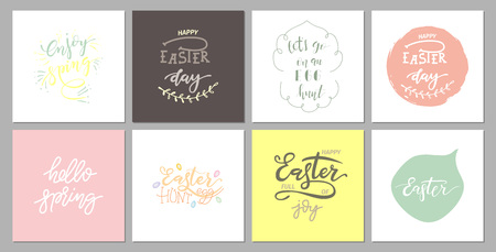 Hand sketched Happy Easter text Illustration
