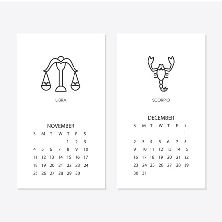 2018 new year calendar isolated on plain background