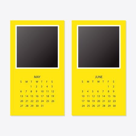 2018 new year yellow calendar. Çizim