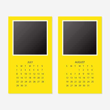 2018 new year calendar with photo frame Stock Vector - 98763746