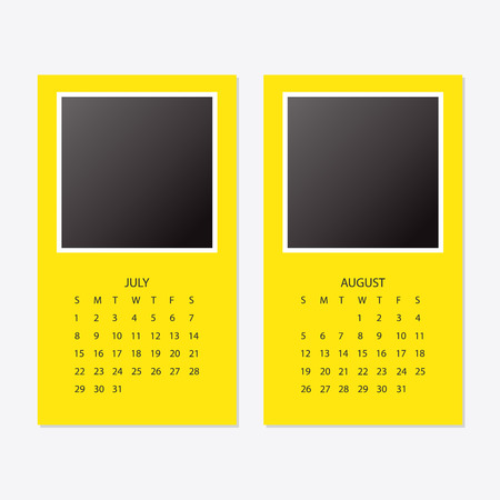 2018 new year calendar with photo frame Illustration