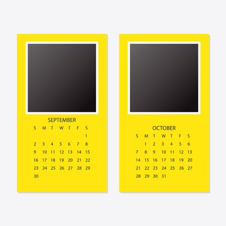 2018年新年度カレンダーセット  イラスト・ベクター素材