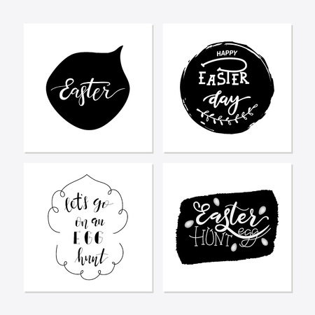 Hand sketched Happy Easter text Stok Fotoğraf