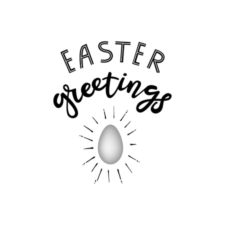Hand sketched Happy Easter text Stockfoto