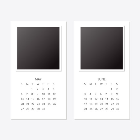 2018 new year calendar. Stock Vector - 99549374