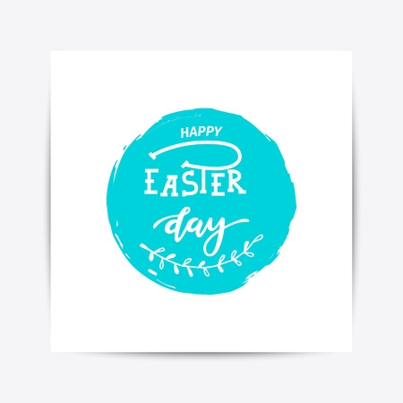 Hand sketched Happy Easter text Stock Photo