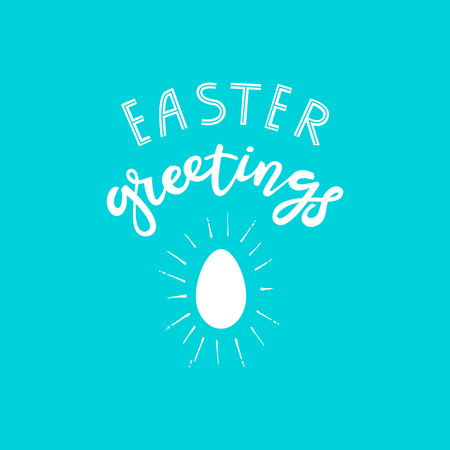 Hand sketched Happy Easter text Zdjęcie Seryjne