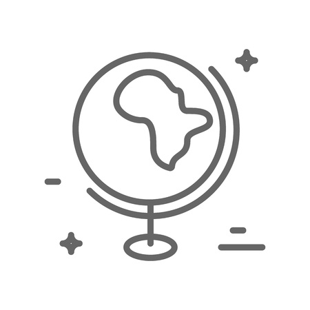 Earth from the space - logo with our planet. Save planet concept. Globe made in trendy line style vector.