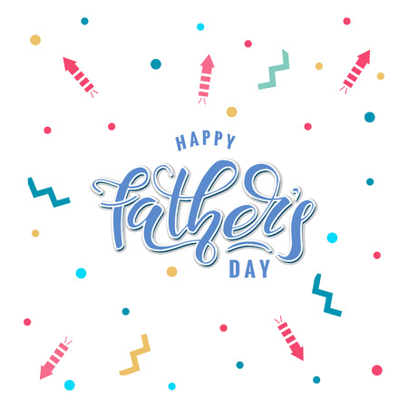 Happy Fathers Day Vectores