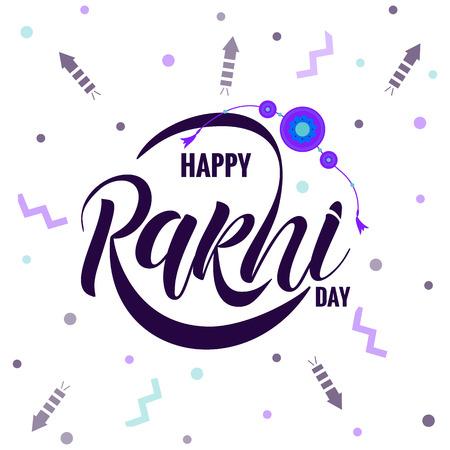 Rakshi typography lettering poster Illustration