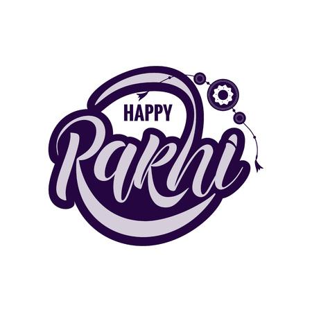 Rakshi typography lettering poster Stock Photo