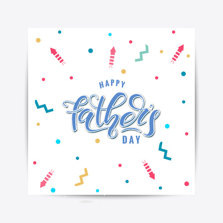 Happy Fathers Day lettering Ilustracja
