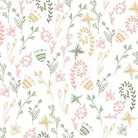 Flower simple minimalistic seamless pattern
