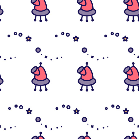 Seamless pattern with space cosmos. Illustration