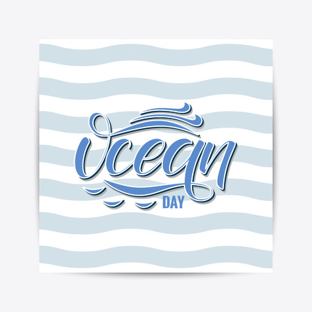 Oceans Day typography lettering