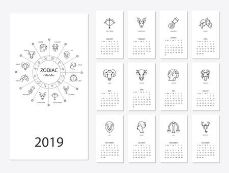 2019 new year calendar
