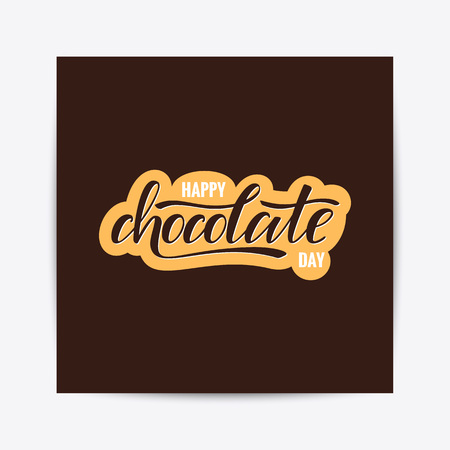 Happy chocolate day typography lettering