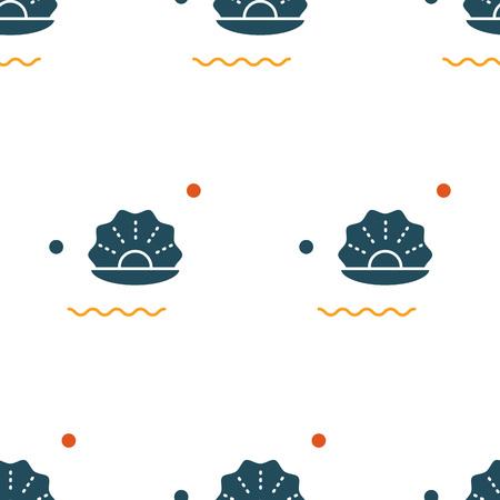 Sea creatures seamless pattern