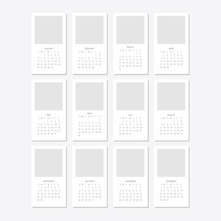 2019 Calendar template design Zdjęcie Seryjne - 103766616