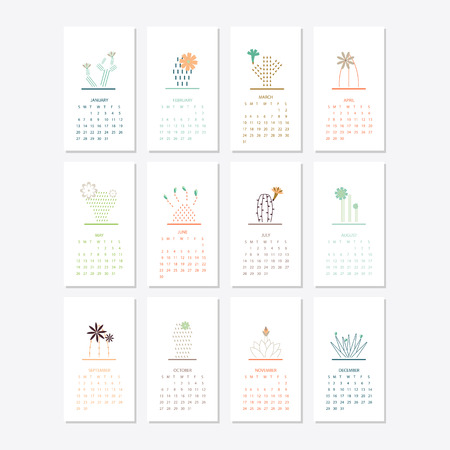 2019 kalender sjabloonontwerp