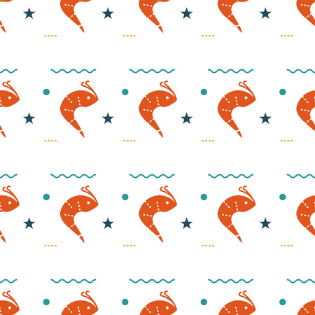 Sea creatures seamless pattern Foto de archivo - 103767077