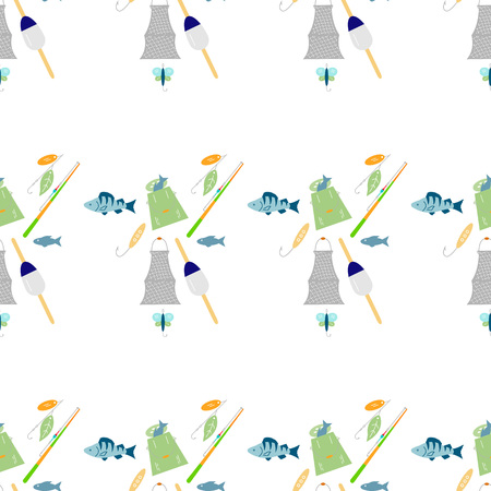Fishing seamless pattern.