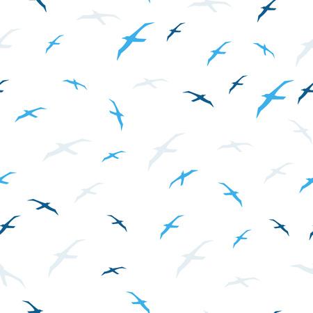 Seagull seamless pattern.