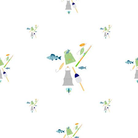Fishing seamless pattern. 写真素材 - 104756435
